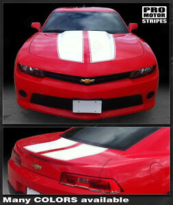 Chevrolet Camaro 2010 2015 Rally Racing Stripes Front Rear Decals Choose Color