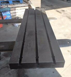 57 5 X 16 125 X 2 75 Steel Weld T slotted Table Cast Iron Layout Plate 3 Slot