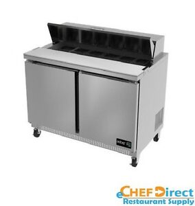 Asber Apts 60 16 60 Two Door 16 Pan Sandwich Salad Prep Table