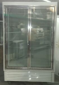 Hussmann Low Temp Hgl 2 bs 52 inch Glass Door Reach in Bottom mount