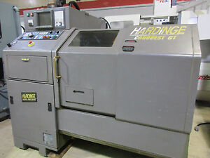 Hardinge Conquest Gt Cnc Gang Tool Chucker Bar Machine lathe W Bar Feed