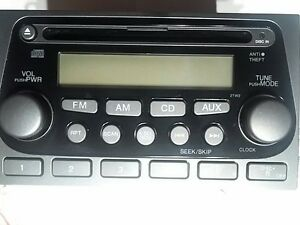 Code 121322003 2004 2005 2006 Honda Element Radio Receiver Cd Player 2bw0 Oem