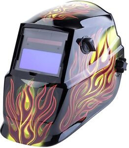Lincoln Electric Auto Darkening Variable Shade Black Welding Helmet