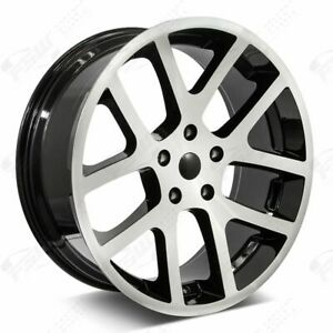 22 Viper Style Wheels Machined Black Fits Dodge Charger Challenger Magnum 300c