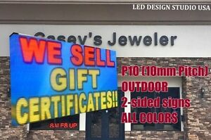 Led Outdoor Business Sign 4ft X 8ft 10 Mm Pitch 2 Sided All Colors