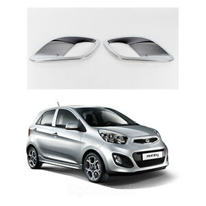 New Chrome Fog Light Lamp Cover Molding Trim K030 For Kia Picanto 2011 2012