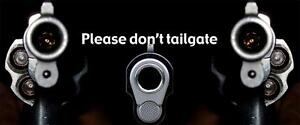 Please Don t Tailgate Truck Rear Tailgate Wrap Vinyl Graphic Decal Sticker Wrap