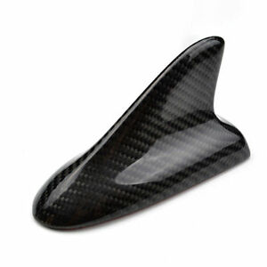 Universal Fitted Real Carbon Fiber Shark Fin Roof Decoration Antenna Style C
