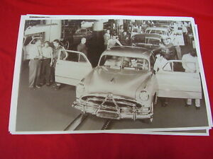 1951 Hudson Assembly Line Shot Big 11 X 17 Photo Picture