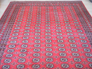 Persian 8x10 Bukhara Hand Knotted Wool Area Rug Good Condition Free Shipping