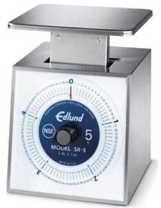 Edlund Sr 5 5 Lb Dishwasher Safe Portion Scale With Rotating Dial