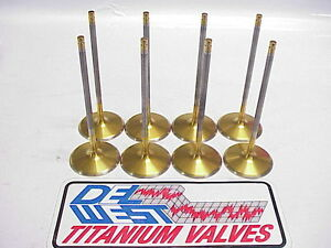 New 6 Mm Del West Titanium Intake Valves 5 670 2 160 Alloy 25 Coated Nascar