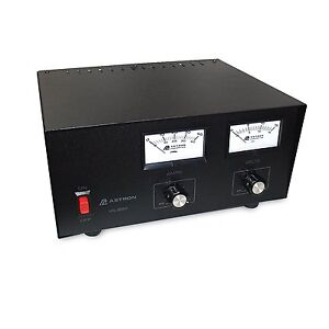 Astron Power Supply 35 Amp With Meters Adjustable Volt Amp Vs 35m