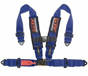 Stv Motorsports Blue Seat Belt Harness 4 point 3 inch Universal Off road Racing