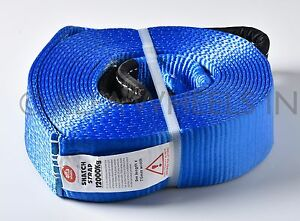 3 26000 Lbs 3x30 12t Tow Snatch Strap 30 Ft Winch Protector Off Road Snatch