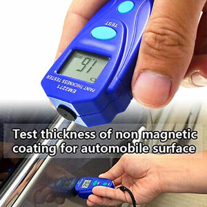 Thickness Tester Digital Car Paint Coating Measuring Gauge Meter Portable Lcd