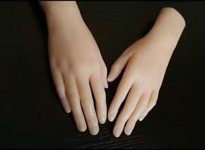 Girls Hand Silicone Life Female Mannequin Hand Display Model Art Sketch One Pair