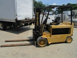 Hyster E100xl 10000 Lbs 36v Electric Forklift 2 Stage 6 Forks no Battery