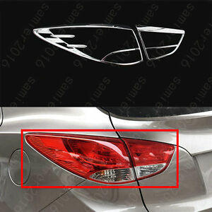 4pcs Chrome Taillight Lamp Frame Cover Trims For Hyundai Tucson Ix35 2011 2012