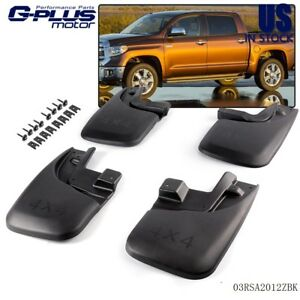 For Toyota Tacoma Mud Flaps Mud Guards Splash Guards 2005 2015 Rear Front 4pcs