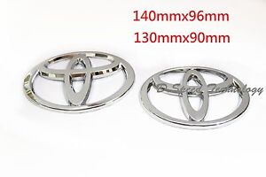 Silver Chrome Front And Rear Car Badge Emblems For Toyota Camry 09 13