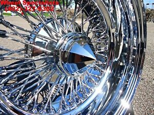 14 Inch Reverse 14x7 Chrome Knockoff Wire Wheels 72 Spoke Dayton Zenith Style