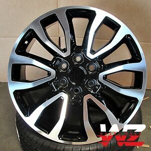 20 Raptor Style Wheels Black Machined Fits Ford F150 Lincoln Navigator 6x135