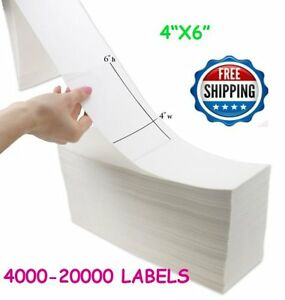 4000 20000 Fanfold 4 X 6 Direct Thermal Label Shipping Barcode Label Zebra Ups