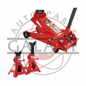 Brand New Atd 3 Ton Jack With 2 3 Ton Jack Stands Minimum Jack Height 5 3 8