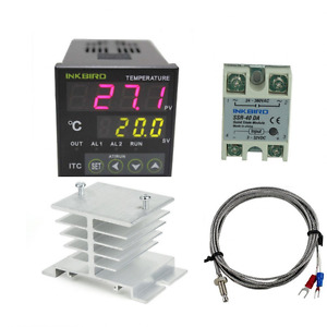 Inkbird Ac 100 220v Itc 100vh Outlet Digital Pid Thermostat Temperature Da 40a
