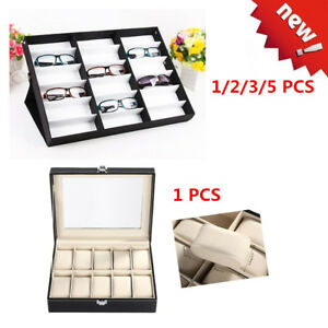 Lot 1 5 Pcs Storage Display Case Box For Eyeglass Sunglass Watches 10 18 Solts
