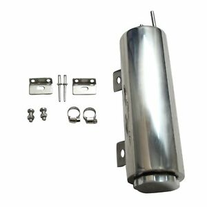 3 X 9 Inch Polished Stainless Steel Radiator Universal Overflow Tank New