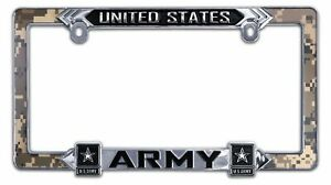 Elektroplate Us Army 3d All metal License Plate Frame Army lpf