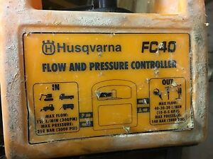 Husqvarna Fc 40 Hydraulic Adjustable Flow Control Valve