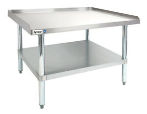 Adcraft Es 2448 Heavy Duty 24 x48 16 Gauge Stainless Steel Equipment Stand