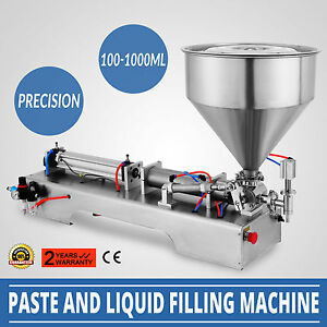 100 1000ml Liquid Filling Filler Machine Stainless Cream Pasty Stainless