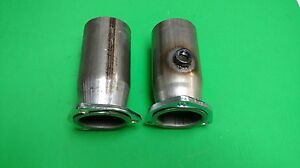 2 50 To 3 0 Od 409 Stainless 3 Bolt Flange Style Header Collector W 02 Bung Usa