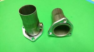 2 5 Header To 2 25 od 409 Stainless W 02 Bung 3 Bolt Gasket Style Collector Usa