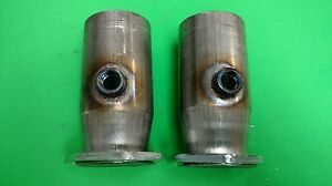 2 50 To 3 od 409 Stainless 3 Bolt Flange Style Header Collector W 02 Bungs Usa