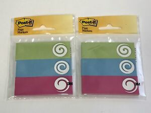 2 Lot Post it Page Marker Flags 1 In X 3 In 3 Pads With 50 Flags Each