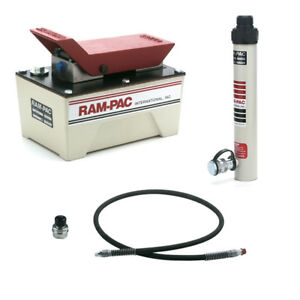 Ram Pac 10 Ton Hydraulic Pump W 6 Hydraulic Hose And Half Coupler Kit 5705