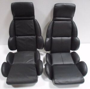 1990 Corvette Black Vinyl Seats On Foam New Free Shipping 89 Christmas Sale