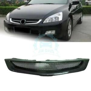 Carbon Fiber Grille For Honda Accord 7th 2003 2007 Front Grille Honeycomb