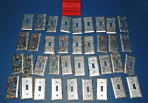Lot Of 37 Appleton Electric Steel Wall Plate 1 Gang Toggle Switch Outlet Cover