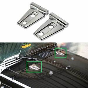 Fit For 2007 2018 Jeep Wrangler Jk Unlimited Chrome Engine Hood Hinge Cover Trim