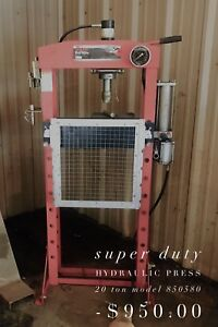 Super Duty Hydraulic 20 Ton Press Model 850580