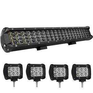 Osram 52inch 4200w Led Light Bar Flood Spot 4row For Ford Offroad Truck Lamp 50
