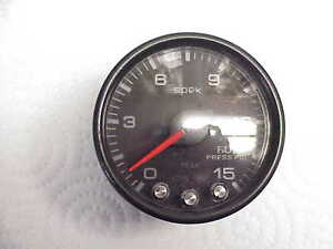 Used Pro Parts Spek Black 2 1 16 0 15 Psi Fuel Pressure Gauge Jh17 Nascar