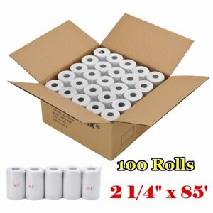 100 Rolls 2 1 4 x 85 Thermal Paper Cash Register Credit Card Pos Receipt Tape