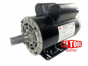5 Hp Single Phase Spl 3450 Rpm 56 Frame 230v 22amp 7 8 Shaft Nema Motor